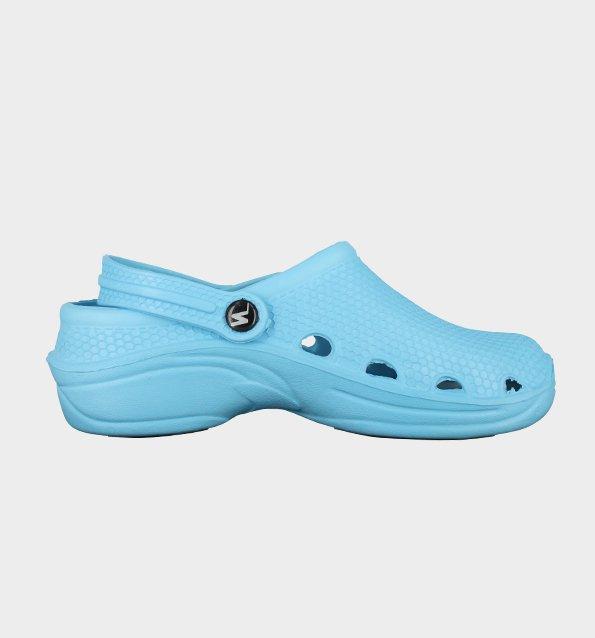 sabot de travail perforé bleu ciel style crocs nordways 83f084e51588